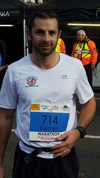 Damien marathon du beaujolais