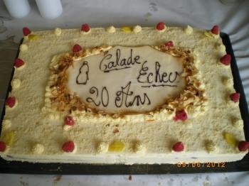 Gateau 20 ans club 2