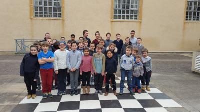 Participants tournoi interne jeunes de la neige